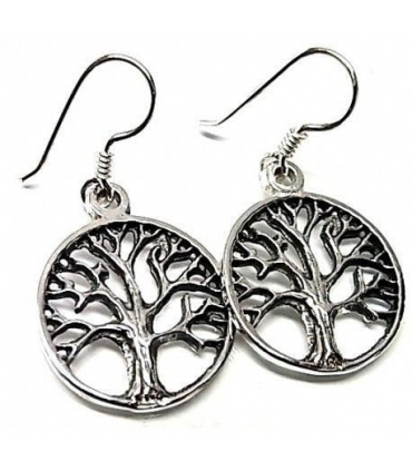 Silver earrings with Tree of Life