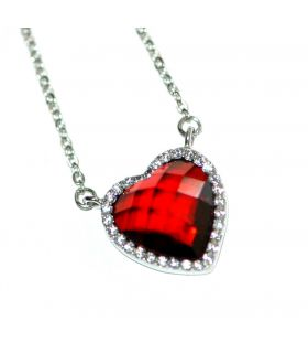 Passion red heart choker