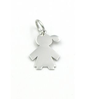 Baby Girl Silver Pendant for Engraving