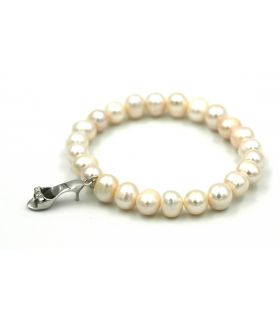 Pearls bracelet with Silver sandal