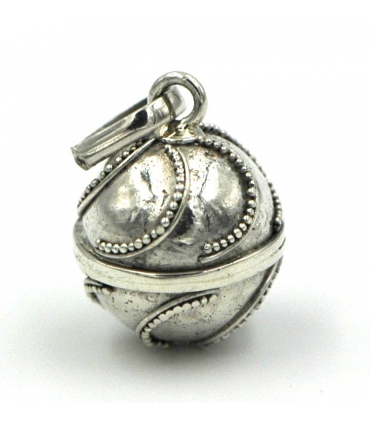 Silver angel caller with semi circle pattern