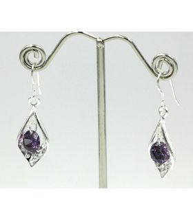 Earrings with a crystal stone