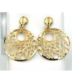 Openwork gold-plated Silver earrings