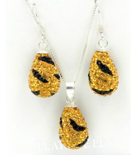 Earrings & pendant Silver set with Swarovski crystals