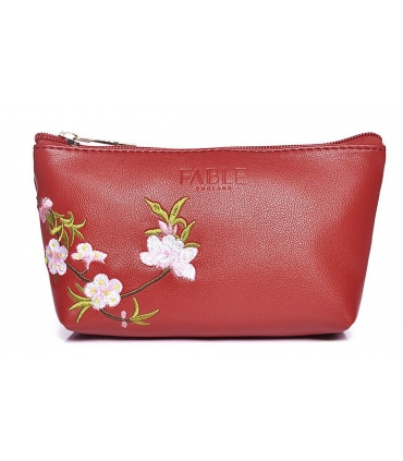 Fable make up bag in passion red