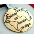 "World map Silver pendant with the phrase ""Quiero un mundo contigo"""