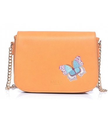 Butterfly embroidered crossbody bag