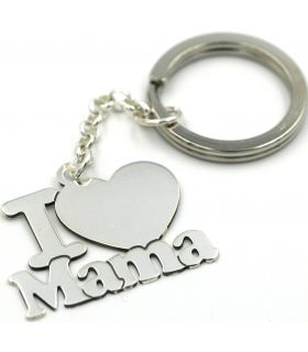 I (love) Mama keyring in Silver