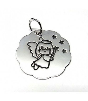 Girl Little Angel Silver Pendant