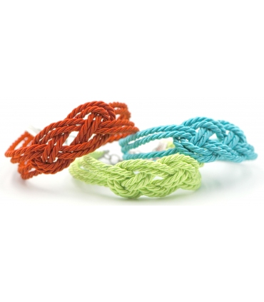 Handmade cord bracelet with knot design