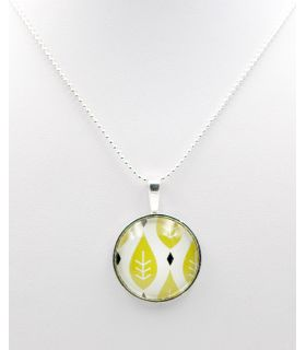Pendant glass dome with flower design