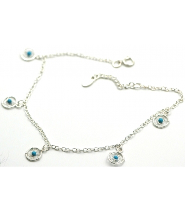 Dream catcher Silver anklet