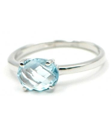 Aquamarine 18k White Gold ring
