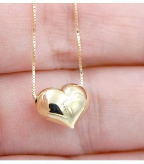 Heart 18k Gold choker necklace