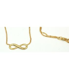 Infinity Knot choker in 18K yellow Gold