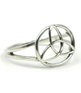 Sterling Silver Triquetra Ring