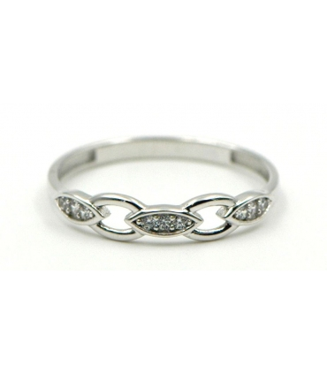 White Gold Ring with Zirconias