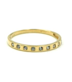 Yellow Gold Ring with Zirconias