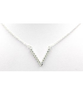 Open Triangle Silver Choker Necklace