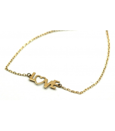 "Yellow Gold ""LOVE"" Bracelet"