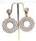 Circular Earrings Gold Plated Silver