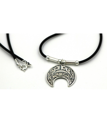 Upside Down Silver Crescent Moon