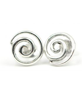 Snail Shape Silver Stud Earrings