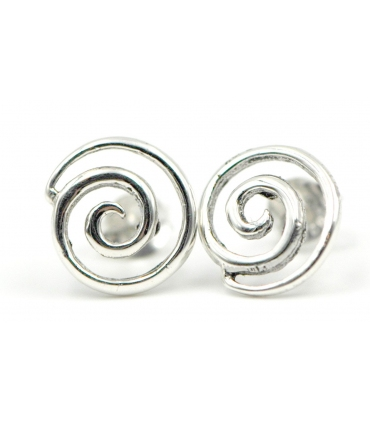 Snail Shape Silver Earrings