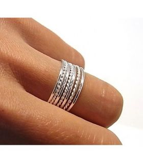 Silver Band Semanario Ring