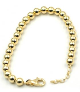 Giallo Gold Plated Silver Ball Bracelet