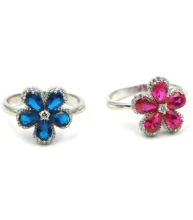 Flower Shape Silver Ring