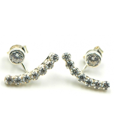 Two-Piece Silver Earrings