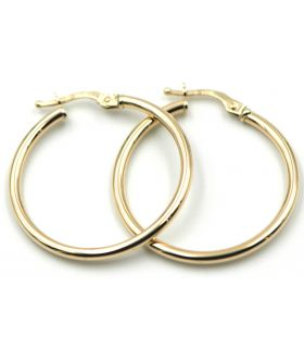 Yellow Gold Smooth Hoop Earrings