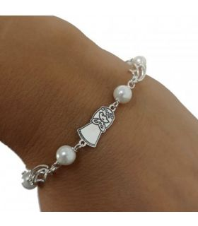 Girl First Communion Pearl & Silver Bracelet