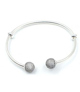 Open Silver Bracelet for Charms