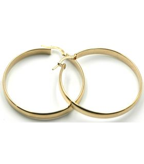 Yellow Gold Flat Hoop Earrings