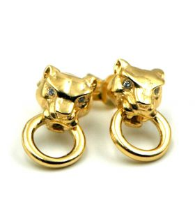 Silver Panther Stud Earrings LeCarré