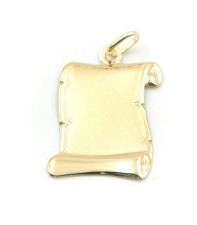 Parchment Pendant in 18K Yellow Gold