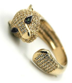 Panther 18K Yellow Gold Ring