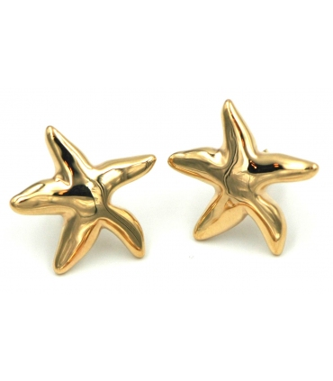 Starfish Yellow Gold Stud Earrings