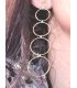 Circle Gold Plated Silver Earrings