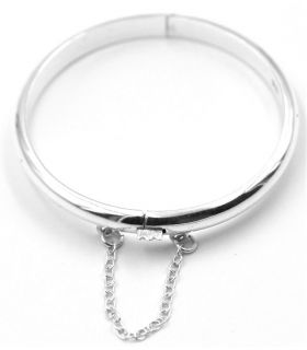 Silver Half Round Bracelet for Young Girls
