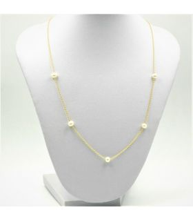 Gold Choker Necklace with Pearls