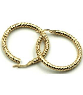 Curled Yellow Gold Hoop Earrings