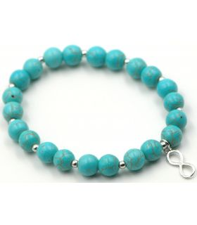 Turquoise Beads Bracelet with Infinity Knot