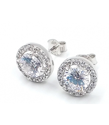 White Gold and Zirconia Earrings