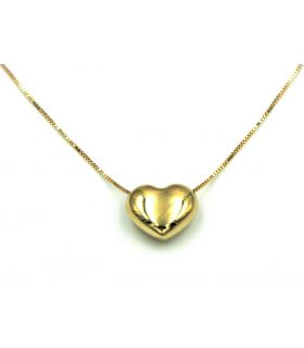 Choker Necklace with Gold Heart