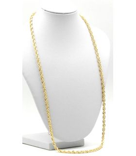 18K Yellow Gold Rope Chain 60cm