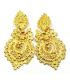 Gold Plated Silver Filigree Earrings