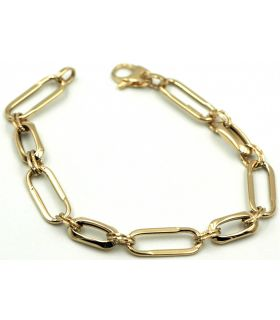 Yellow Gold Oval Links Bracelet